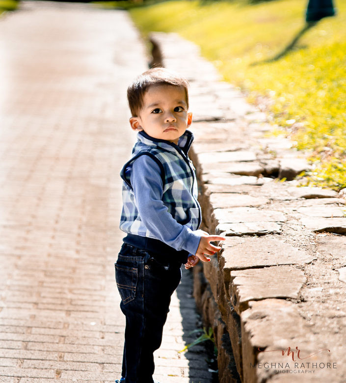 boy kid standing in a outdoorphoto shoot