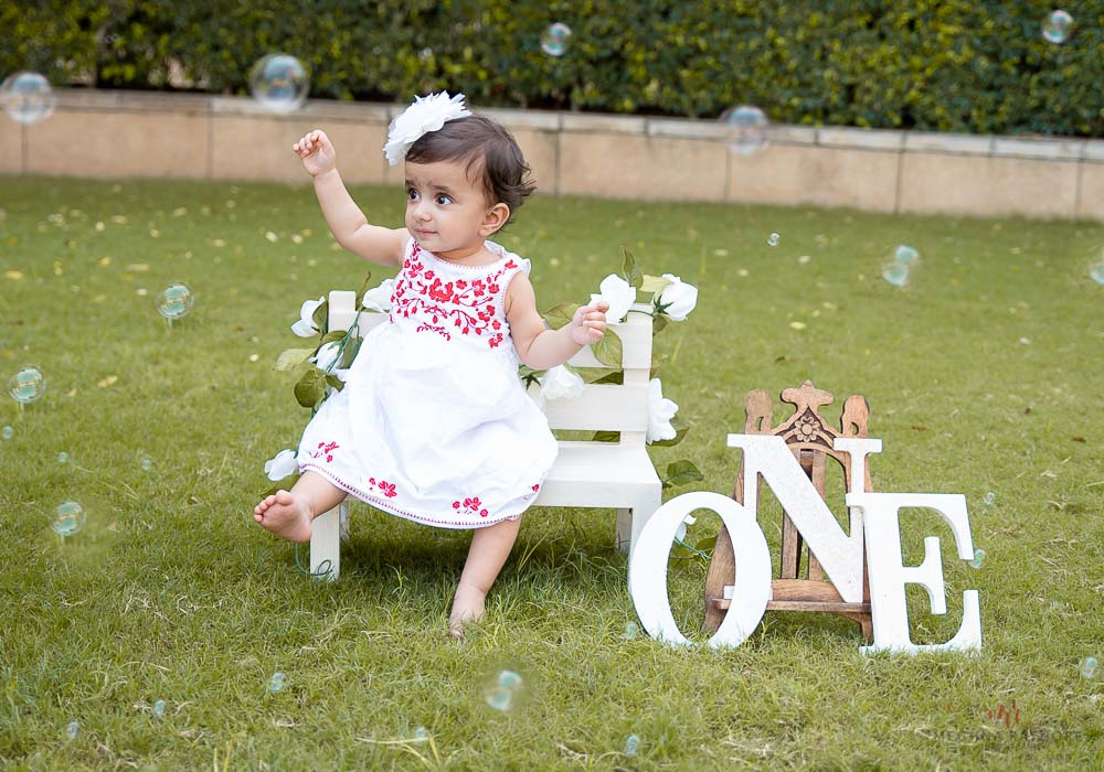 meghna rathore photography kid outdoor one year photo shoot