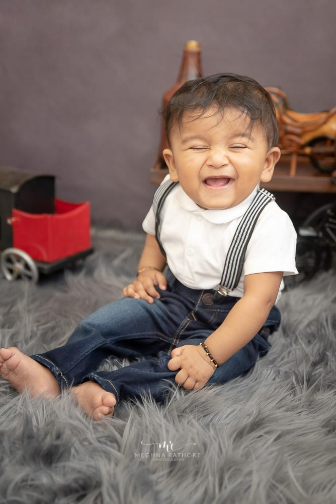 Meghna Rathore Photography, baby laughing, smiling, kids photographer