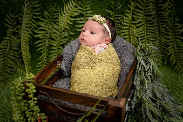 Meghna Rathore Photography, baby in green plants