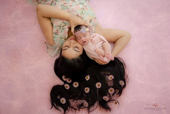 Meghna Rathore Photography,mom and daughter, newborn photographer