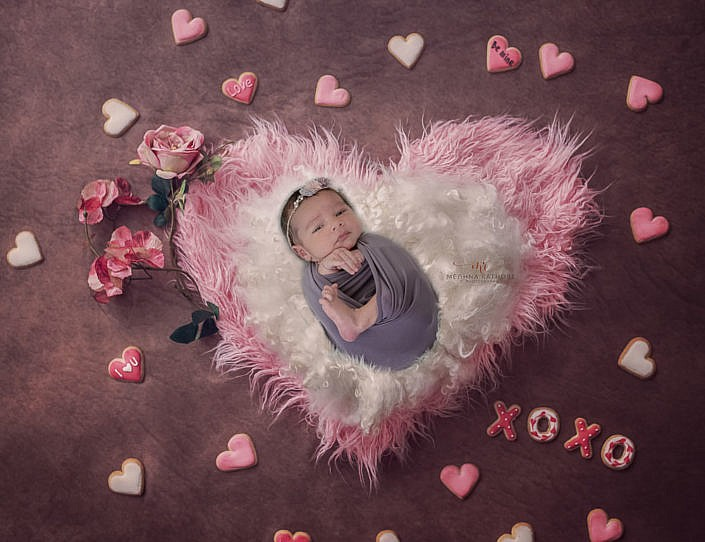 Meghna Rathore Photography, baby and pink heart