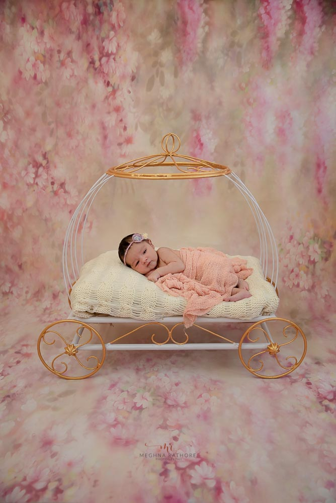 Meghna Rathore Photography, baby posing in carriage