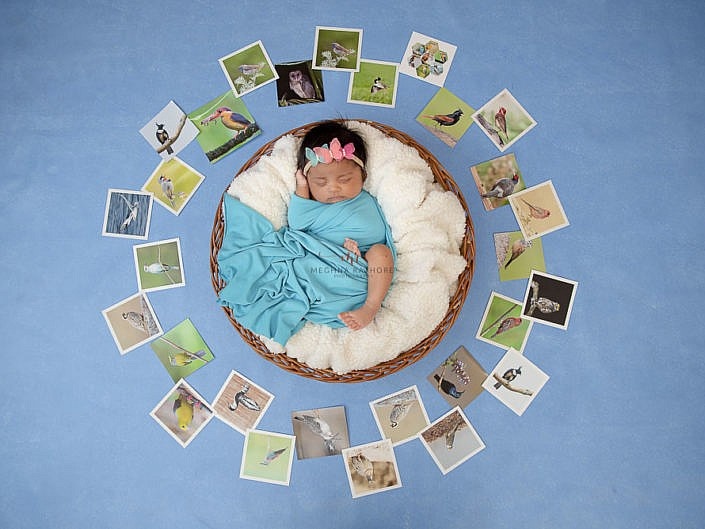 Newborn Album 28 - 29 Days Old Newborn Girl Family Photo Session Delhi