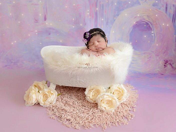 Newborn Album 26 - 20 Days Old Newborn Girl Indoor Family Photo Session Delhi