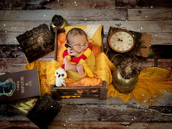Newborn Baby Photo Session Props Setup Album 1