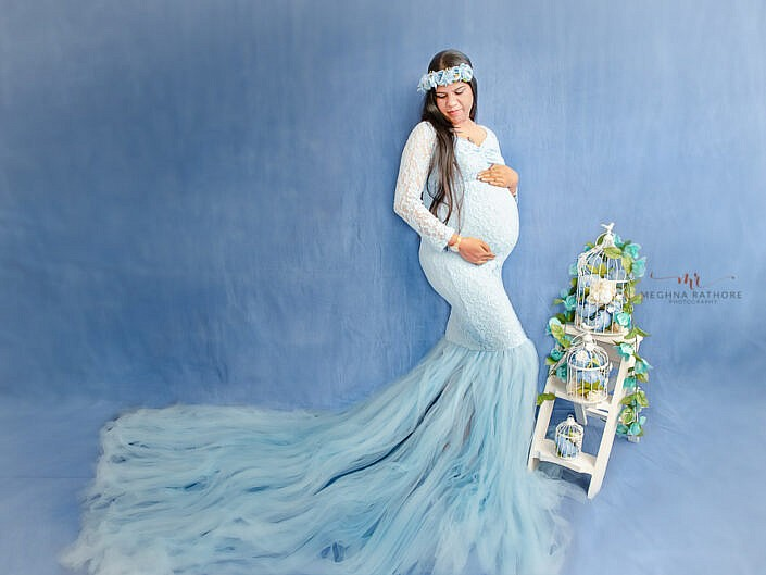 Maternity Album 13 - Beautiful Indoor Pregnancy Professional Photo Session - Delhi Gurgaon Noida