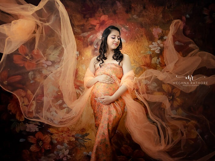 Maternity Album 19 - Indoor Professional Maternity Photo Session - Delhi Gurgaon Noida