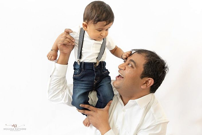 Meghna Rathore Photography, dad and son, kids photographer