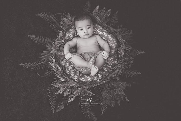 Meghna Rathore Photography, baby in basket