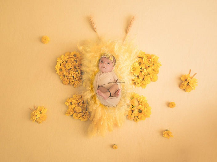 June 2019 – 5 Months Old Baby Girl Indoor Photo Shoot Props Concepts Delhi