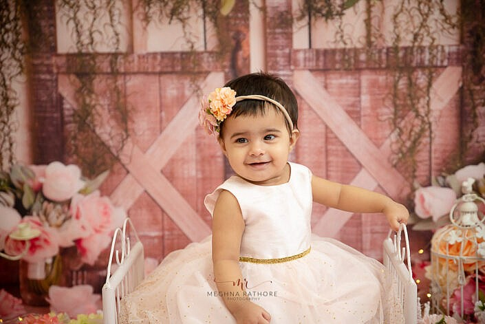 baby smiling and posing kid photoshoot by Meghna Rathore photography Delhi