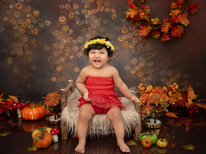Sitter – Sep 2020 – 8 Months Old Girl Kid Sitter Photo Shoot Props Family