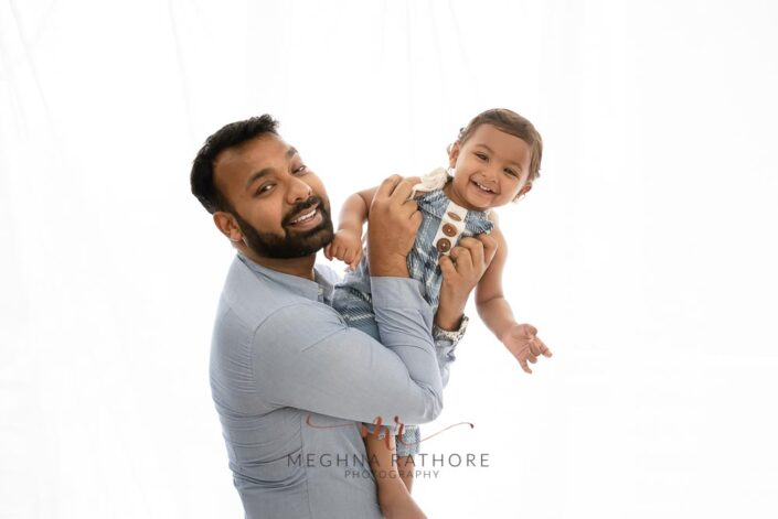 Father and son duo posing candidly at meghna rathore photography professional photoshoot in delhi gurgaon